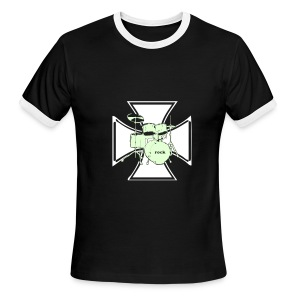 Iron Cross Drummer - Men's Ringer T-Shirt