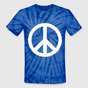 Spider baby blue peace sign T-Shirts - Unisex Tie Dye T-Shirt