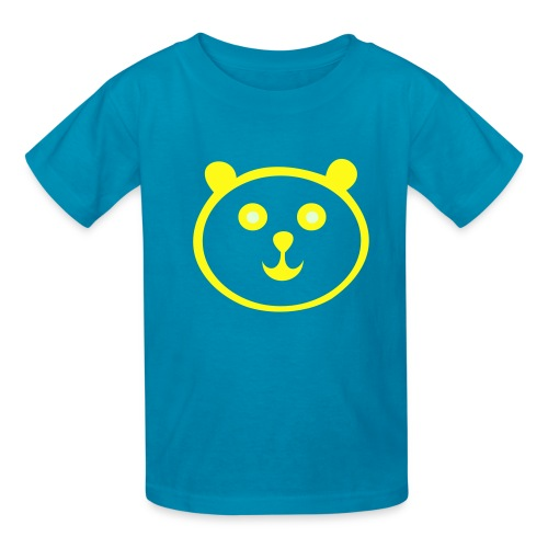 Kid's Panda Tee- Blue - Kids' T-Shirt