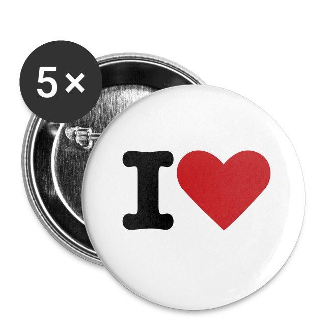 I LOVE HEART PINS