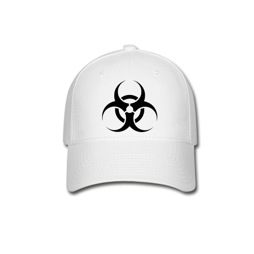Biohazard (wht) - Baseball Cap