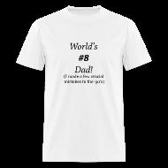 T-Shirts ~ Men's T-Shirt ~ World's #8 Dad '90's Ring standard