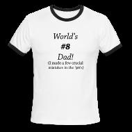 T-Shirts ~ Men's Ringer T-Shirt ~ World's #8 Dad '90's Ring