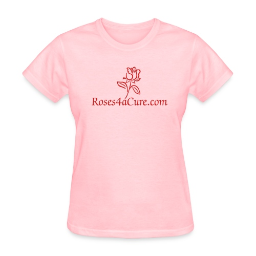 Roses4aCure.com Pink/Red Tee - Women's T-Shirt