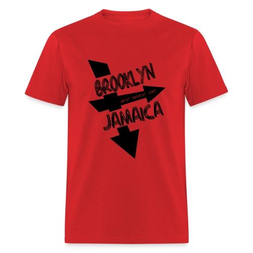WUBT 'Brooklyn By Way Of Jamaica--DIGITAL DIRECT' Men's Standard Tee, Red - Men's T-Shirt