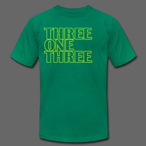 THREE ONE THREE 313 Men's American Apparel Tee - Men's T-Shirt by American Apparel