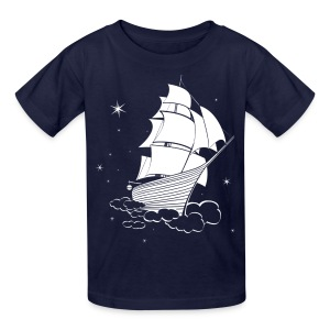 Midnight Sailing Kids T-shirt - Kids' T-Shirt