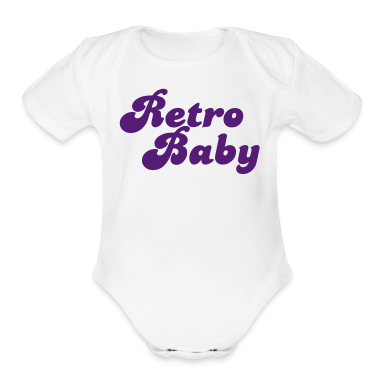 White retro baby in funky cute font Baby Body