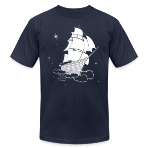 Midnight Sailing  - Men's T-Shirt by American Apparel
