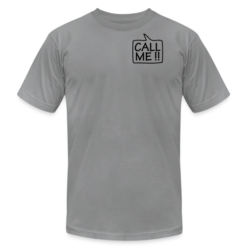 Call Me  - Black T-Shirt for Men - Men's T-Shirt by American Apparel