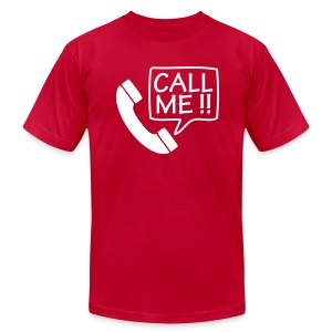 Call Me Too!  - White T-Shirt for Men - Men's T-Shirt by American Apparel