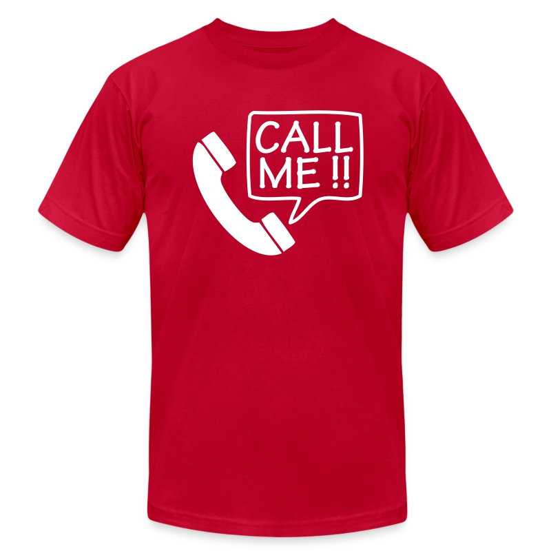 Call Me Too!  - White T-Shirt for Men - Men's Fine Jersey T-Shirt