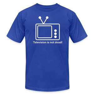 Television is not Dead  - White T-Shirt for Men - Men's T-Shirt by American Apparel
