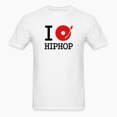 White I dj / play / listen to hiphop T-Shirts