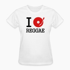 White I dj / play / listen to reggae Women's T-Shirts