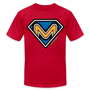 Super Manhunt - Red - Men's T-Shirt by American Apparel