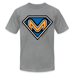 Super Manhunt - Slate - Men's T-Shirt by American Apparel