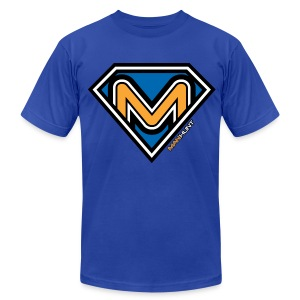 Super Manhunt - Royal Blue - Men's T-Shirt by American Apparel