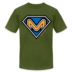 Super Manhunt - Olive - Men's T-Shirt by American Apparel