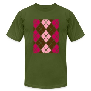 Argyle With Style  T-Shirt for Men - Men's Fine Jersey T-Shirt