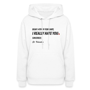 St. Valentine's Post Its Note  Hoodie for Women - Women's Hoodie