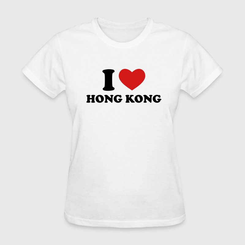 White I Love Hong Kong Women's T-Shirts - Women's T-Shirt