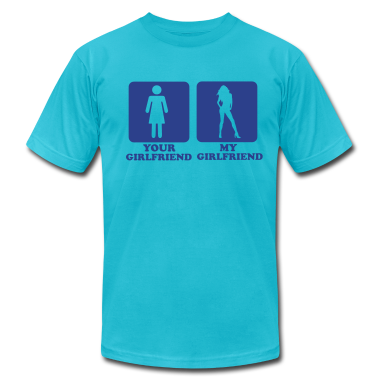 Turquoise My Girlfriend T-Shirts