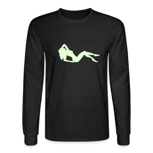 Glowing Lady - Men's Long Sleeve T-Shirt
