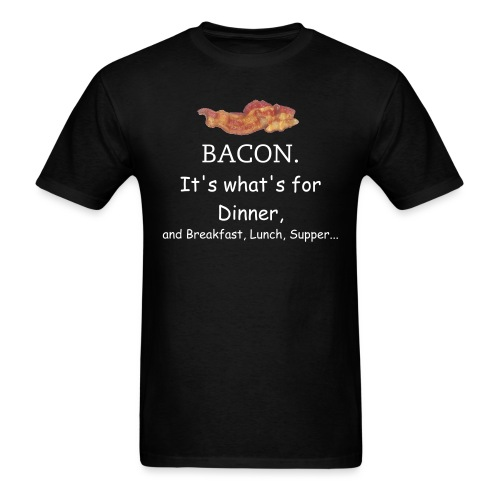 Bacon 2 - White Text - Men's T-Shirt