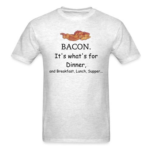 Bacon 2 - Black Text - Men's T-Shirt