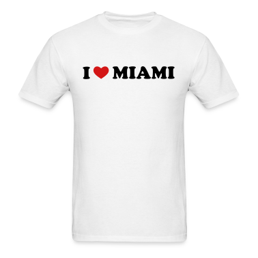 White I Love Miami T-Shirts