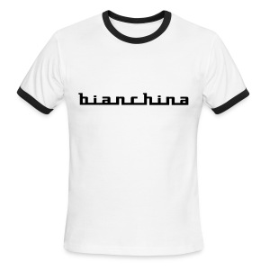 Bianchina script emblem / flex - Men's Ringer T-Shirt