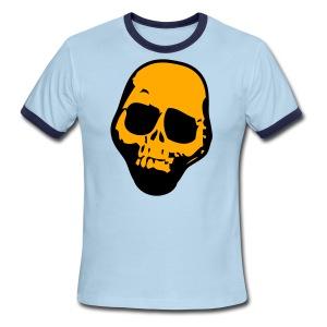 Chocolate tan skull rough with no jaw tattoo t shirts for Jawbone fishing shirts