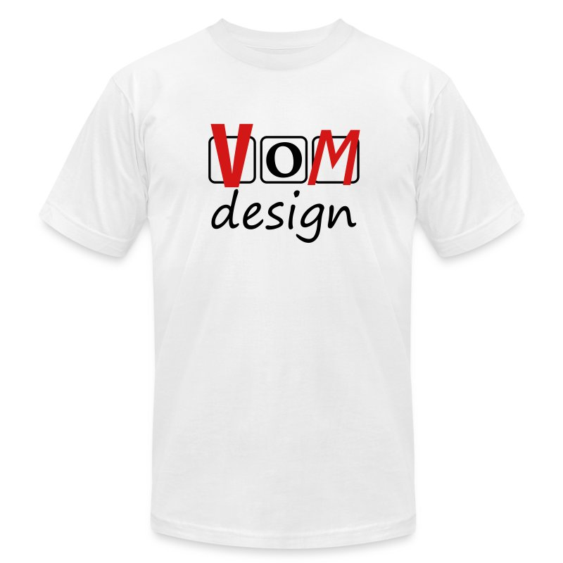 VOM Emblem on Chest  T-Shirt for Men - Men's T-Shirt by American Apparel