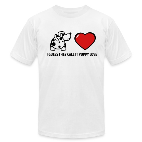 They Call It Puppy Love  T-Shirt for Men - Men's Fine Jersey T-Shirt