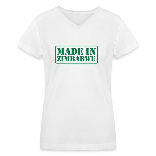 Made in Zimbabwe - Women's V-Neck T-Shirt
