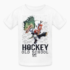 White Dino Hockey Kids' Shirts