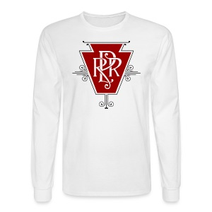 Vintage Pennsylvania Railroad Logo - Men's Long Sleeve T-Shirt