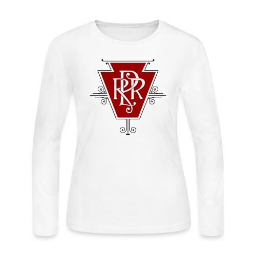 Vintage Pennsylvania Railroad Logo - Women's Long Sleeve Jersey T-Shirt