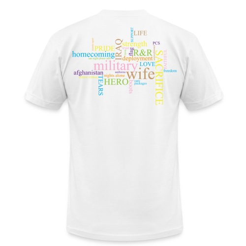 Military Words - Men's  Jersey T-Shirt