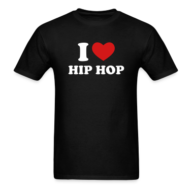Black I Love Hip Hop T-Shirts