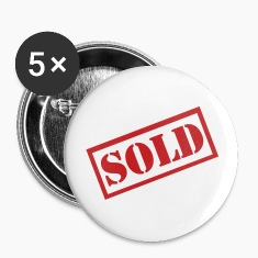 White Sold - Bachelor party Buttons