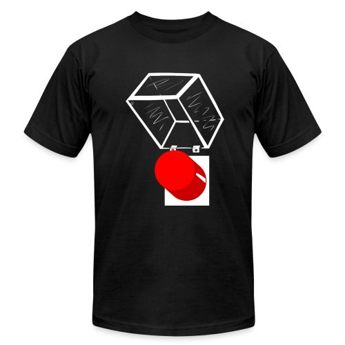 Mens - Exposed Button - Men's Fine Jersey T-Shirt