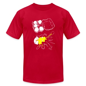 T-Shirt War Egg Carton Splat - Men's Fine Jersey T-Shirt