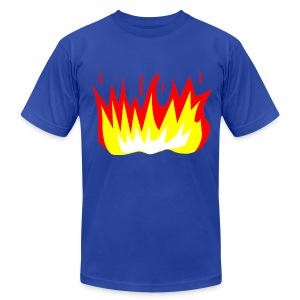 T-Shirt War Fire - Men's T-Shirt by American Apparel