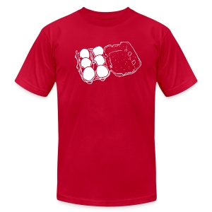 Mens - 6 Eggs - Men's T-Shirt by American Apparel