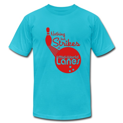 Nothing but Strikes at Mid-World Lanes - Men's  Jersey T-Shirt