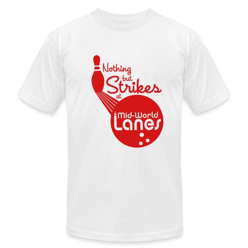 Nothing but Strikes at Mid-World Lanes - Men's Fine Jersey T-Shirt