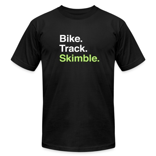 Bike. Track. Skimble. Men's Tee - Men's T-Shirt by American Apparel