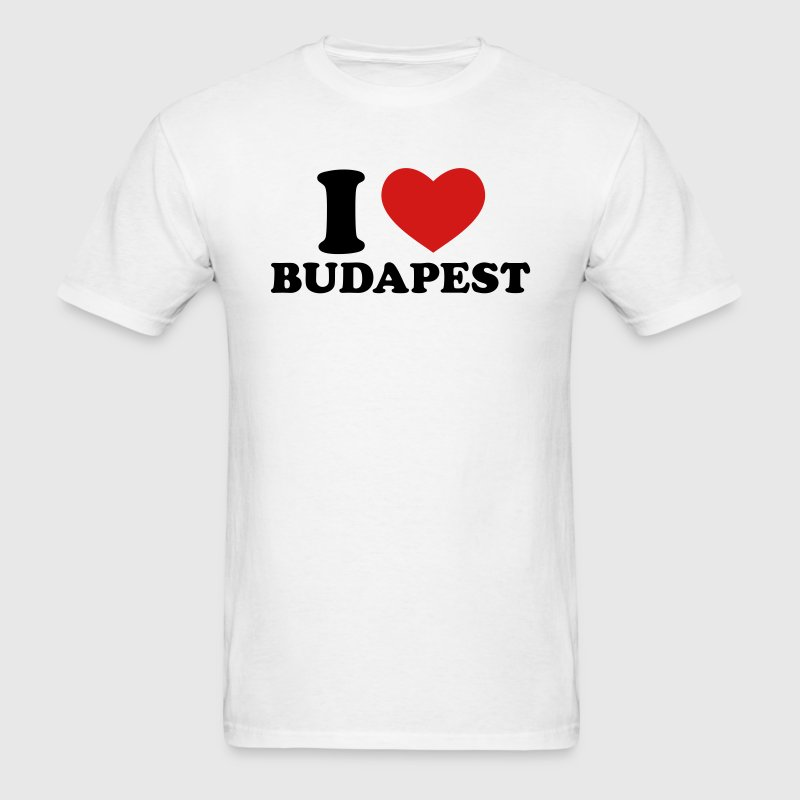 White I Love Budapest T-Shirts - Men's T-Shirt